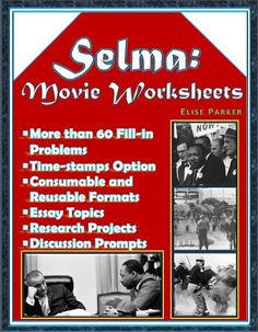 From the Nobel Peace Prize to the Selma Voting Rights March, help your students understand Dr. Martin Luther King, Jr. and the Civil Rights Era as never before with these Selma Movie Worksheets. No more wondering about who is who onscreen; all problems are labeled with the relevant character names. Selma Movie Worksheets also come with essay topics and discussion prompts for robust learning!