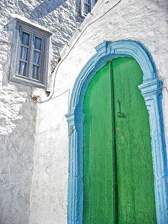Green door, Hydra, Greece