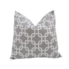 Decorative Designer Pillow Cover-18 inch-Geometric Gotcha In Ash Grey by Nena Von, http://www.amazon.com/dp/B007259XMC/ref=cm_sw_r_pi_dp_7lrnqb03KV4FY
