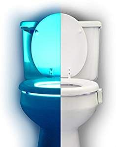 RainBowl Motion Sensor Toilet Night Light - Funny Unique Gift Idea for Him, Her, Men, Women & Birthday Kid - Cool New Fun Gadget, Best Gag Present