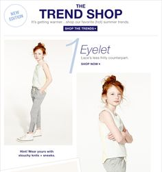 This model is so cute! She looks like one of those kids you know will grow up to be pretty.