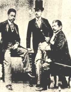 Antonio Luna with fellow propagandists Eduardo de Lete (CENTER) and Marcelo H. Del Pilar (RIGHT). PHOTO was taken in Spain in 1890.