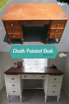 41 best chalk paint desk images antique furniture desk painted rh pinterest com