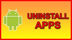 How to Uninstall Apps on Android - Tutorial Android Tutorials, Video Tutorials, How To Uninstall, Apps, Phone, Telephone, App, Mobile Phones, Appliques