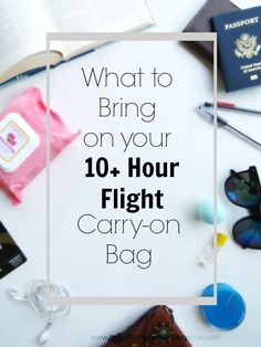Preparing for a really long flight? Check out a complete list of things to bring, plus tips for you to stay comfortable and ready to go!