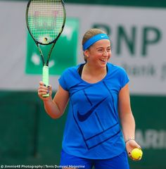 Jelena Ostapenko, practicing in Paris - via Jimmie48 Photography - May 2016