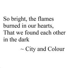 City and Colour Lyrics