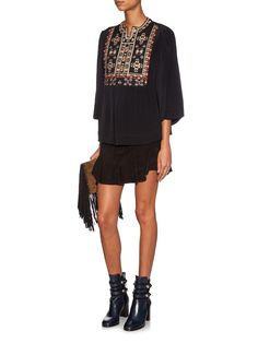 Roma embroidered silk top | Isabel Marant | MATCHESFASHION.COM