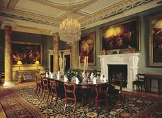 Spencer House in London once owned by ancestors of Princess Diana ~ the smaller dining room