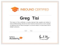 Why Become Inbound Certified With Hubspot Academy