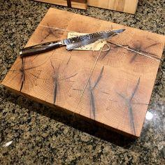 White Oak End Grain Cutting Board – Crooked SawDust Woodworking End Grain Cutting Board, Diy Cutting Board, Wood Cutting Boards, Butcher Block Cutting Board, Cheese Cutting Board, Chopping Boards, Wood Shop Projects, Wooden Decor, White Oak