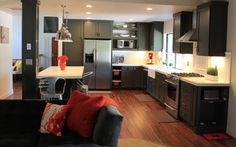 Teal Industrial meets Chic - Industrial - sacramento - by HT Home Design at The Showroom