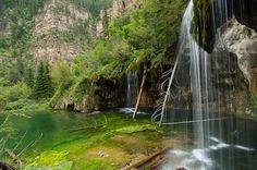 Waterfalls at Hanging Lake in Glenwood Canyon, Colorado, USA (by MileHiPentax).