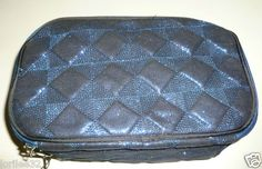 Midnight blue large cosmetic travel bag