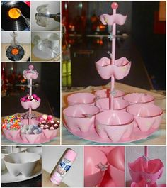 Creating Your Own Candy Stand Using Plastic Bottles diy diy crafts do it yourself diy projects candy stand