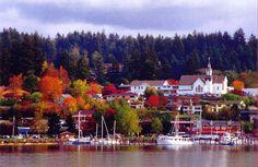Poulsbo, WA. Great shops, food and people! I used to spend my Thursday's here just browsing the art galleries