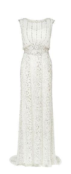 Hope Beaded Grecian Wedding Dress from Phase Eight #emeraldjewelry