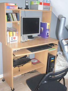 Meuble Informatique Sur Roulettes Placage Chene Clair Comme Neuf Meuble Informatique Bureau Fait Maison Placage Chene