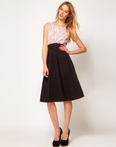 Enlarge Emily & Fin Fit And Flare Midi Dress