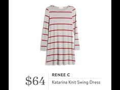 Cute grey and red casual dress