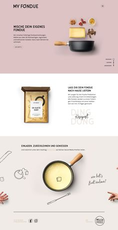 MYFONDUE landing page design inspiration - Lapa Ninja You are in the right place about Web Design history Here we offer you the most beautiful pictures about the Web Design 2018 you are looking for. Food Web Design, Online Web Design, Web Design Trends, Web Design Company, Website Design Inspiration, Banner Design Inspiration, Landing Page Inspiration, Portfolio Website Design, Website Design Layout