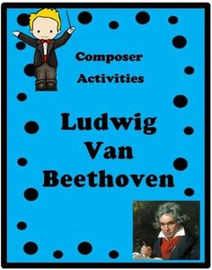 *** FREE *** This is an example of COMPOSER ACTIVITIES products. See below for other available products. Overview: This product is a curriculum integration tool incorporating music, history, math and writing for 2-5th. The lesson is built around students learning some facts about Beethoven, identifying and singing a musical theme with original fun lyrics and writing creative narratives. Music vocabulary words are used in the song. Math principles may be applied through the use of rhythm patt