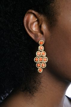 Coral Earrings Coral Earrings, Beauty Must Haves, Color Trends, Fashion Beauty, Accessories, Jewelry, Style, Swag, Jewlery