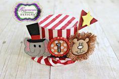 Big Top Circus Birthday Hat Mini Top Hat Photo Prop