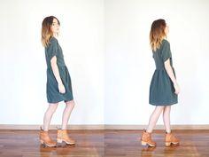 short boots + dress