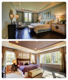 Do you prefer carpet or hardwood in your bedroom? Top: The Preserve at Goose Creek Model Bottom: Oakley Reserve Model