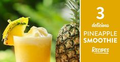 How to make great tasting pineapple smoothies, full of bromelain for weight loss, improving your digestion and alkalizing your body.