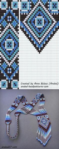 схема гердана гайтана станочное ткачество бисероплетение by SAburns