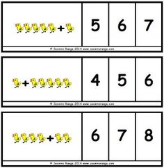 This resource is aimed at infant or SEN pupils at the beginning of work on Math Numbers, Worksheets, Preschool, Infant, Kids, Crowns, Easter Ideas, Spring, Cards