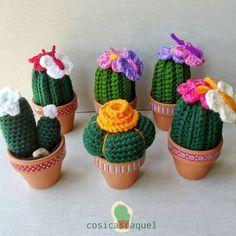 cosicasraquel cactus crochet con mariposa - Buscar con Google