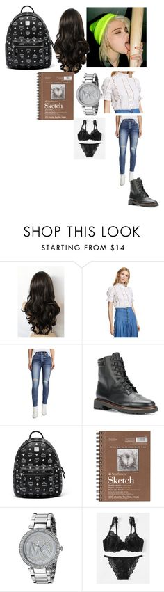 """""""OOTD Elsa Larrson-Brannon"""" by queen-p-bxtch ❤ liked on Polyvore featuring Sea, New York, RE/DONE, Robert Clergerie, MCM, Michael Kors and skyferreira"""