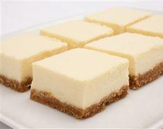 Cheesecake bites on buttery graham cracker crust #cookies #modernbite #cheesecake