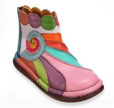shoe 100% leather color by 1ARTISTECOULEUR on Etsy