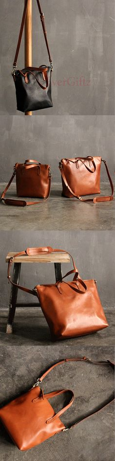 Handmade leather vintage tote women handbag shoulder bag crossbody bag