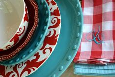 Red And Turquoise Room Ideas | ... presents red and turquoise tabletop designs…