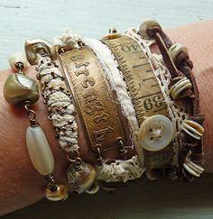 i love NINA Bagley's work --- and the beautiful spirit she has ----- Strength Bracelet/Necklace Wrap by Nina Bagley