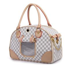 Classic Leather Pet Carrier - Nicky's Pet Paradise - 1