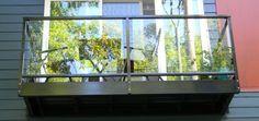 geländer für terrasse glas stahl balkon idee modern
