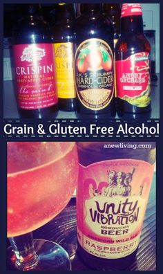 Top Grain and Gluten Free Alcohol options