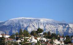 La nieve hace acto de presencia en Sierra Tejeda, Almijara y Alhama (Axarquía).Málaga