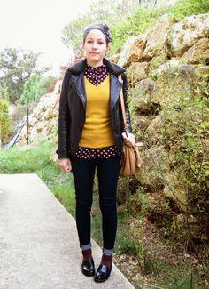 Mode - look preppy - chemise burgundy coeurs