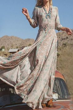https://shopblakes.com/products/desert Feel as radiant as the sun with this desert inspired maxi dress Made from a soft blend of cotton, polyester, and chiffon for ultimate comfort Loose bottom fit for a relaxed look Free Shipping Worldwide