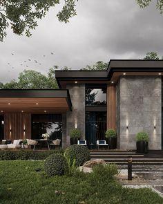 Modern Exterior House Designs, Unique House Design, Minimalist House Design, Exterior Design, Facade Design, Modern Home Exteriors, Dream House Interior, Luxury Homes Dream Houses, Mansion Designs