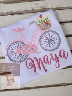 Girls bicycle shirt made to match Matilda Jane Hello Lovely