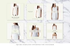 Light Fashion Instagram Pack - Web Elements - 2 Winter Collection, Instagram Fashion, Templates, Coat, Creative, Shopping Mall, Models, Stenciling, Sewing Coat