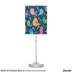 Bird's of a Feather Blue Desk Lamp